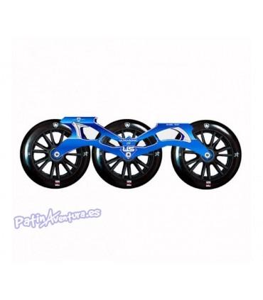 Ultrasonic Kit Ruedas+Guia+Rodamientos 125mm Azul