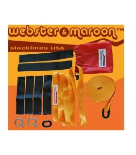 Slackline Pocketline Webster & Maroon