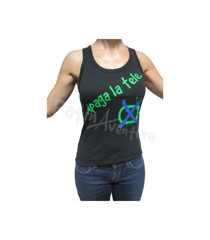 "Camiseta Nadadora Mujer ""Apaga La Tele"""
