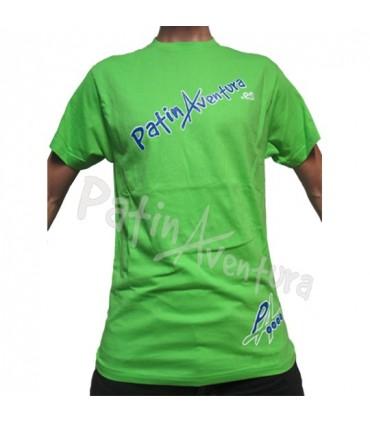Camiseta PatinAventura Verde Hombre