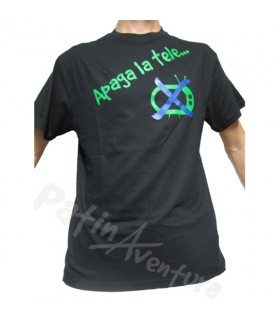 "Camiseta Hombre Negra ""Apaga la tele"""