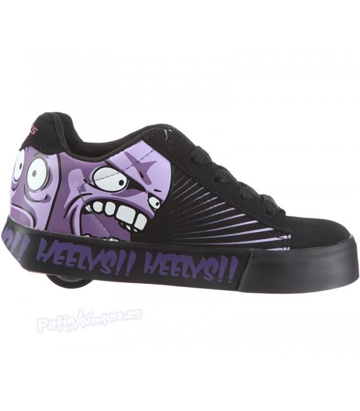 Heelys Scream Negra y Morada