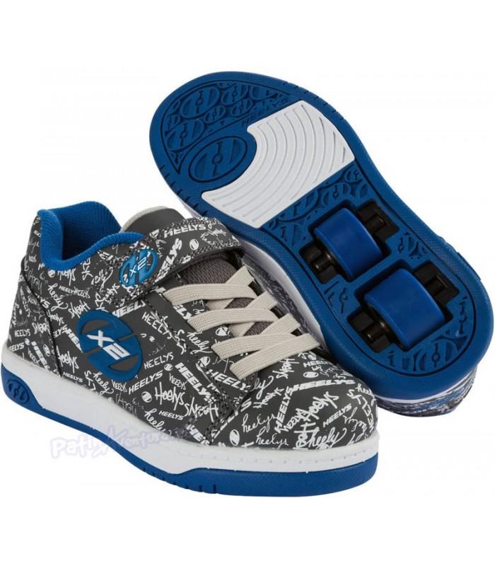 Heelys X2 Dual Up Gris/Azul/Logo