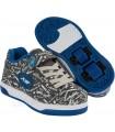 Zapatillas Con Ruedas Heelys X2 Dual Up Gris/Azul/Logo