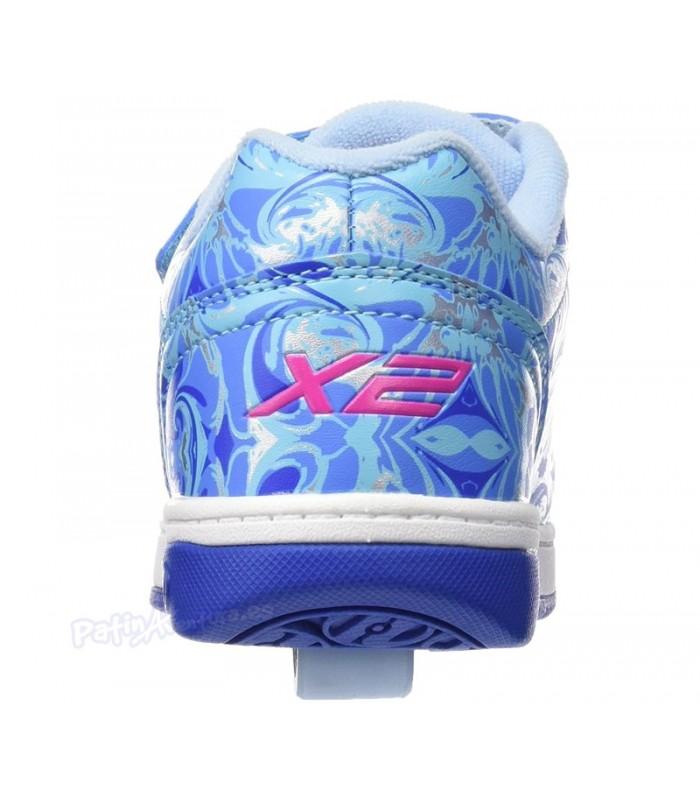 Heelys X2 Dual Up Azul/Multi/Mármol