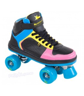Patines Quad Rookie Rollerskates Hype Hi Top Niños