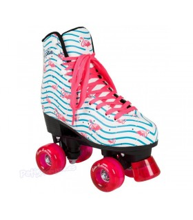 Patines Quad Rookie Rollerskates Flamingo Adulto/Niñas
