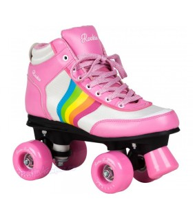 Patines Quad Rookie Rollerskates Forever Arco Iris Rosa/Multi Niñas