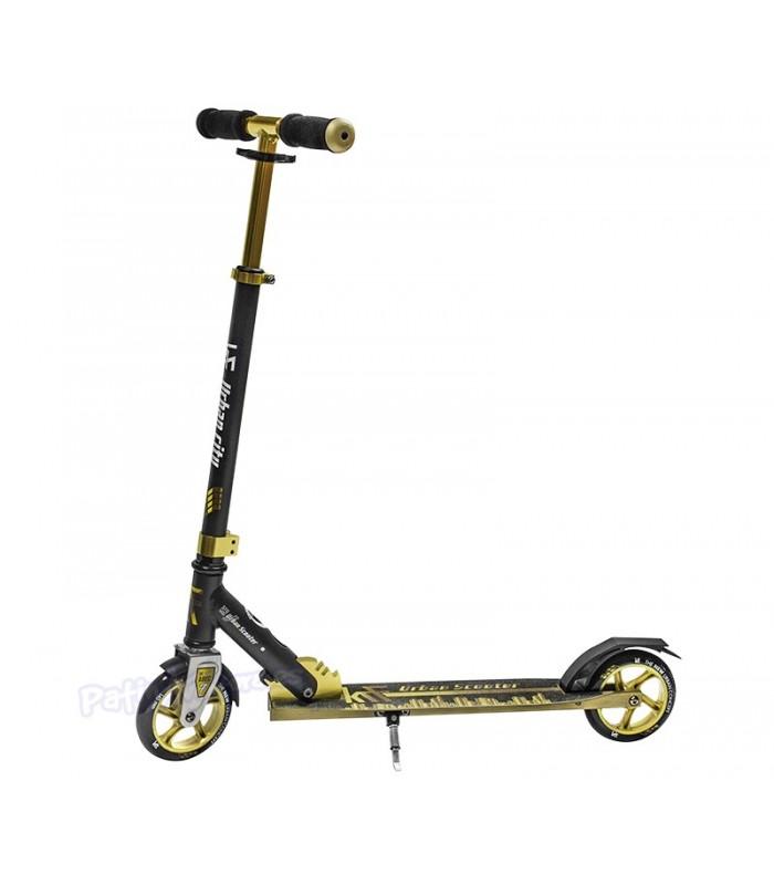 Scooter Patinete Urban City 145 Negro/Dorado Junior