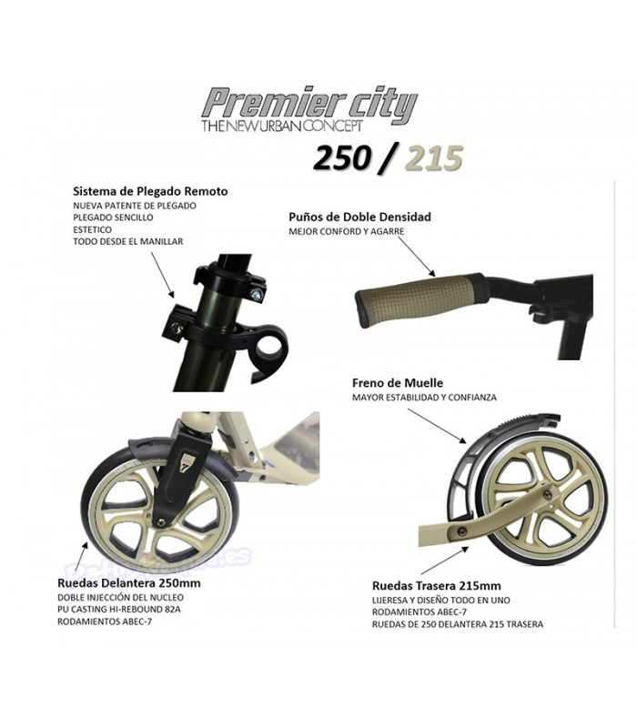 Scooter Patinete Premier City 250 Champán Adulto/Junior