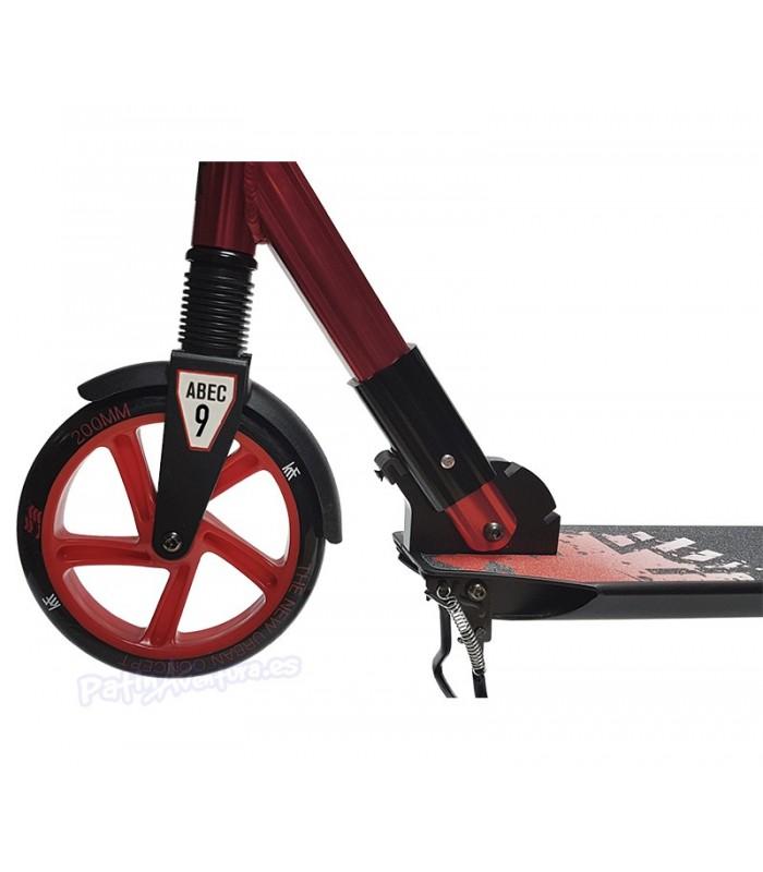 Scooter Patinete Premier City 200 Rojo Doble Suspensión Adulto/Junior