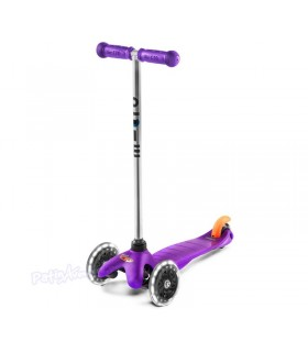 Patinete Scooter Mini Micro Classic Lila Led Junior