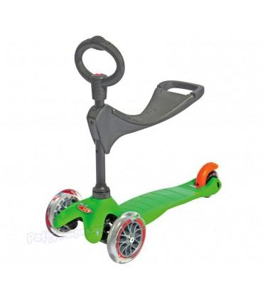 Patinete Scooter Mini Micro 3en1 Verde Niños/Infantil