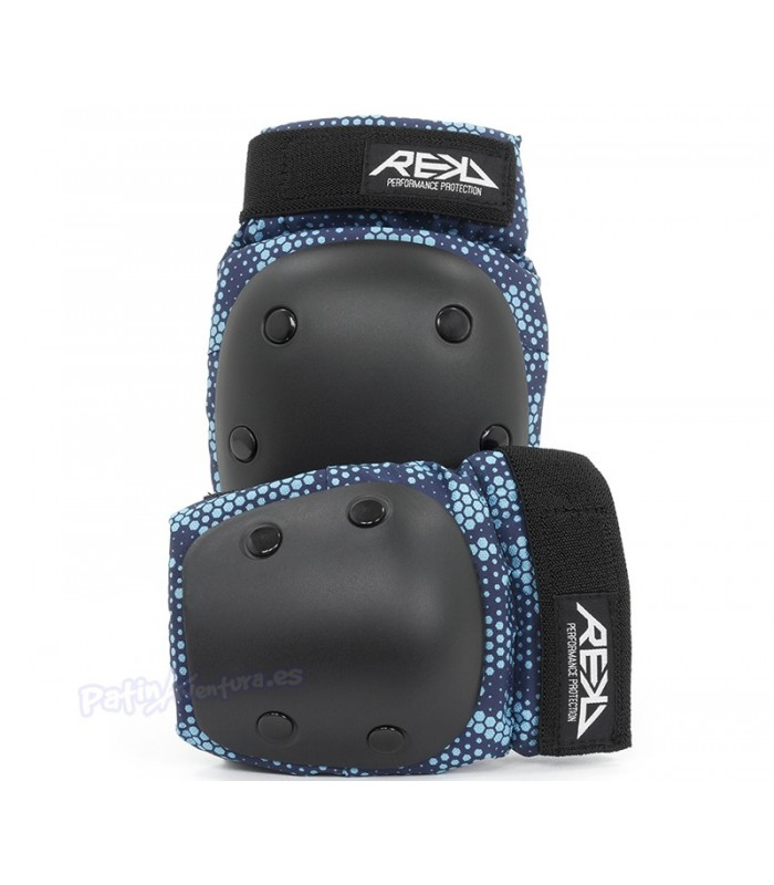 Protecciones Pack 2 REKD Heavy Duty Azul Junior