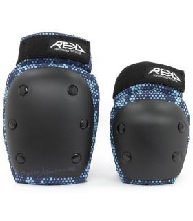 Protecciones Pack 2 REKD Heavy Duty Negro/Azul Junior