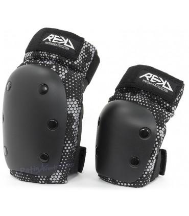 Protecciones Pack 2 REKD Heavy Duty Negro/Gris Junior