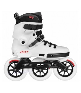 Patín Freeskate Powerslide Next Megacruiser 125mm Blanco Adulto