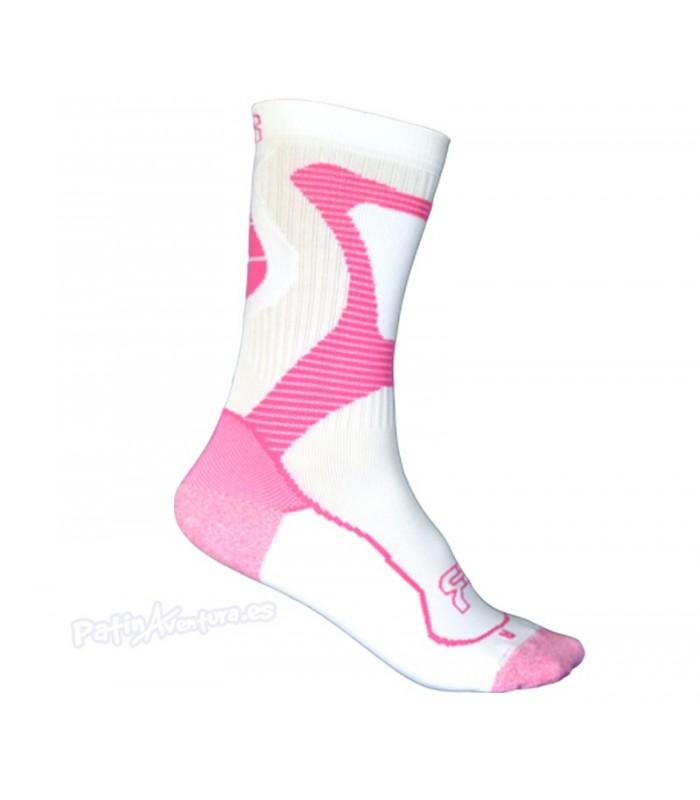 Calcetines FR Nano Sports Technology Blanco/Rosa Adulto