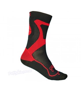 Calcetines FR Nano Sports Technology Negro/Rojo Adulto