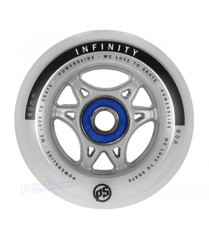 Rueda Freeskate Powerslide Infinity II 80mm 84A + ABEC5 Sample