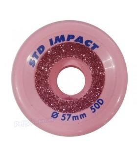 Ruedas Impact STD Tradicional 57mm 50D Purpurina
