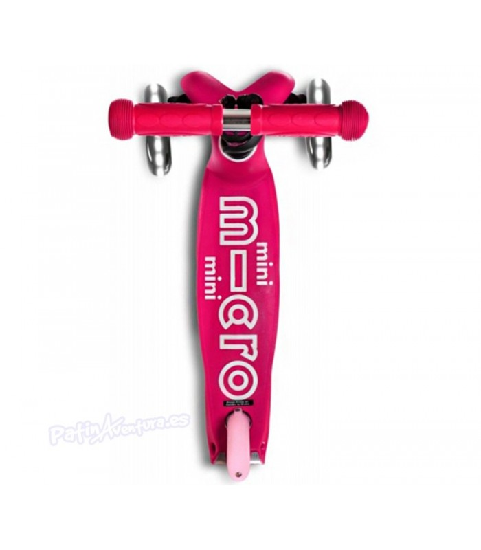 Patinete Scooter Mini Micro Deluxe Rosa Led Niñas/Infantil