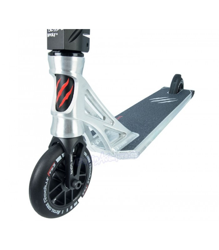 Patinete Scooter Freestyle Killer K8 Bestial Wolf Silver