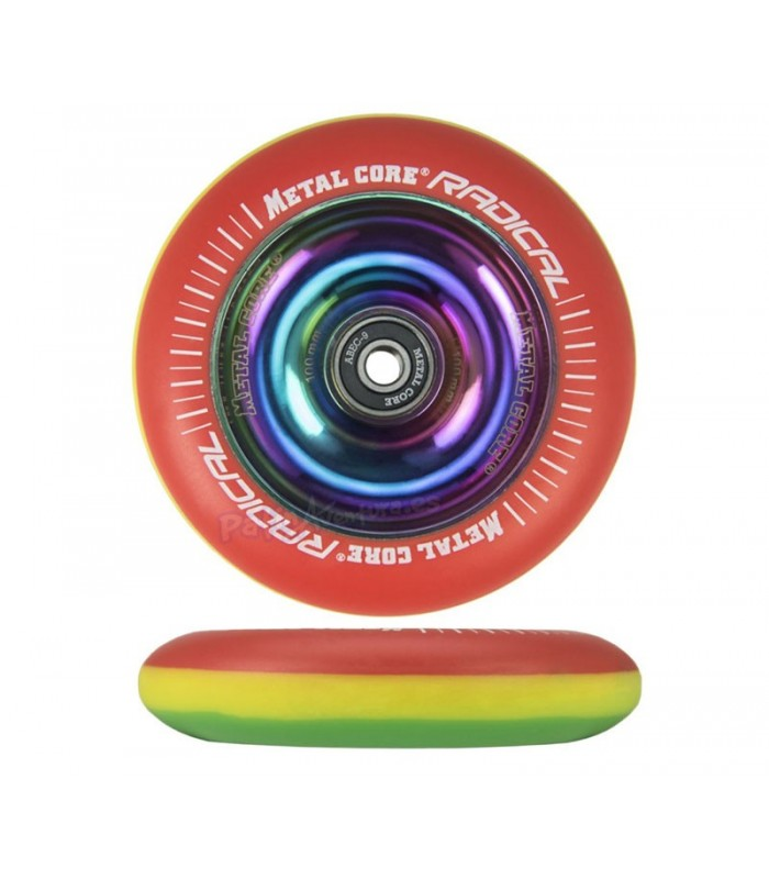 Rueda Patinete Freestyle Metal Core Radical Rasta 100mm