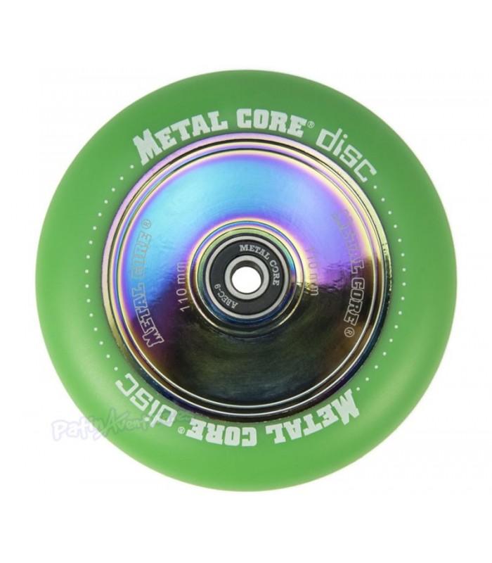 Rueda Patinete Freestyle Metal Core Verde Núcleo Rainbow 110mm
