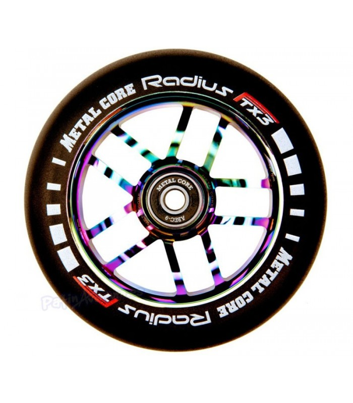 Rueda Patinete Scooter Freestyle Metal Core Radius Rainbow 120mm