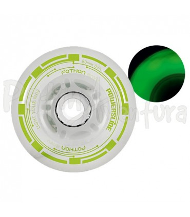 Ruedas Luces Led Fothon Envy Verde PS