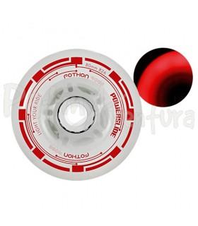 Ruedas Con Luz Led Fothon Rage Rojo PS