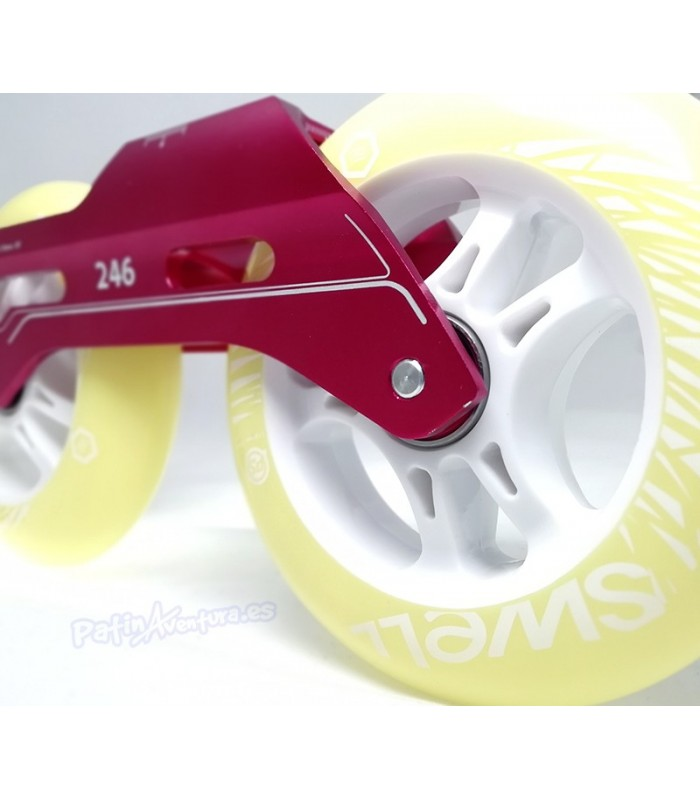 Guía Freeskate Powerslide Pleasure Tool SC 3x110 246mm Roja Completa