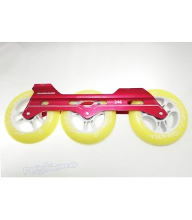 Guía Freeskate Powerslide Pleasure Tool SC 3x110 246mm Roja Completa
