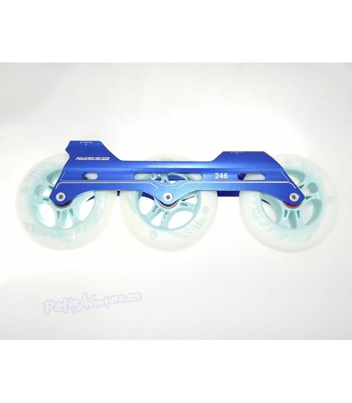 Guía Freeskate Powerslide Pleasure Tool SC 3x110 246mm Azul Completa