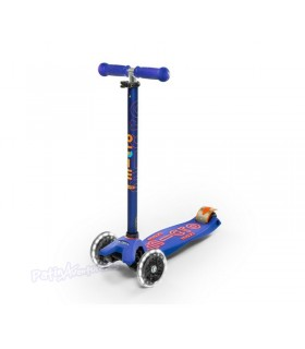 Patinete Scooter Maxi Micro Deluxe Blue Led Niños