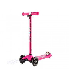 Patinete Scooter Maxi Micro Deluxe Pink Led Niños