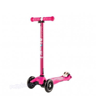Patinete Scooter Maxi Micro Deluxe Pink Led Niñas