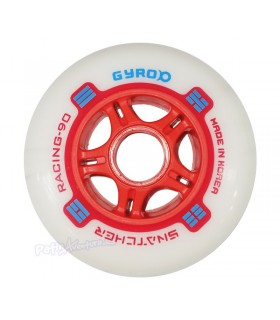 Ruedas Freeskate Gyro Snatcher 90mm 85A Rojo