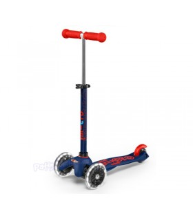 Patinete Scooter Mini Micro Deluxe Azul/Rojo Led Infantil