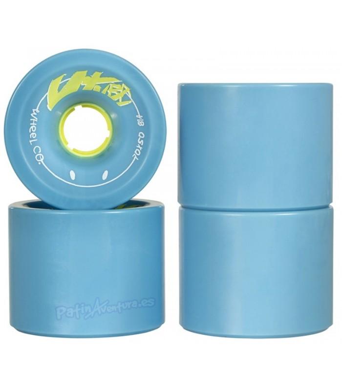 Ruedas Longboard Utuba Fringe Blue 70mm 81A