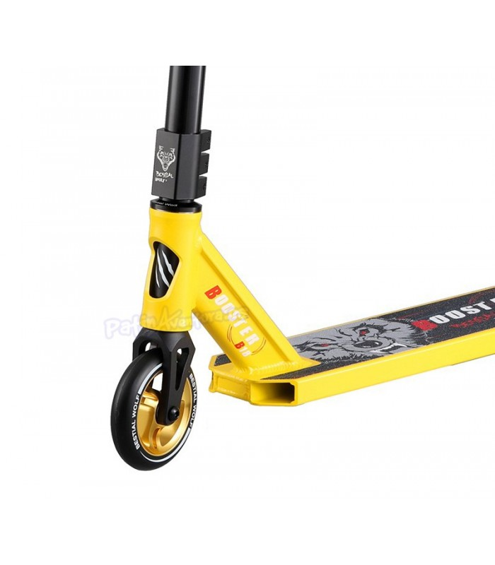 Patinete Scooter Freestyle Booster B18 Bestial Wolf Amarillo
