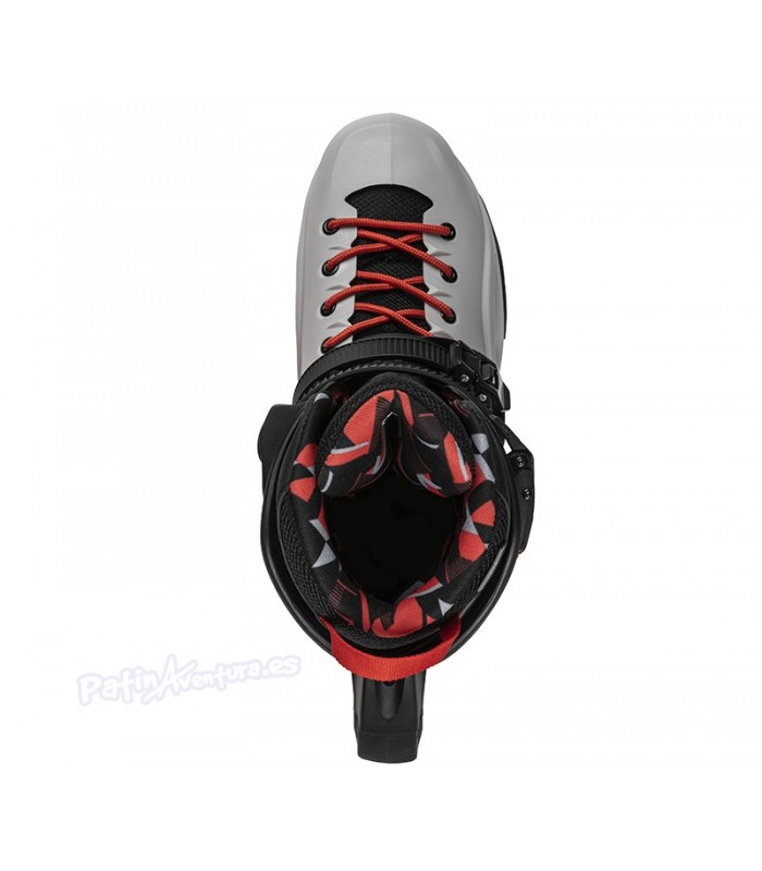 Patines Freeskate Rollerblade RB Pro X Grey-Warm Red