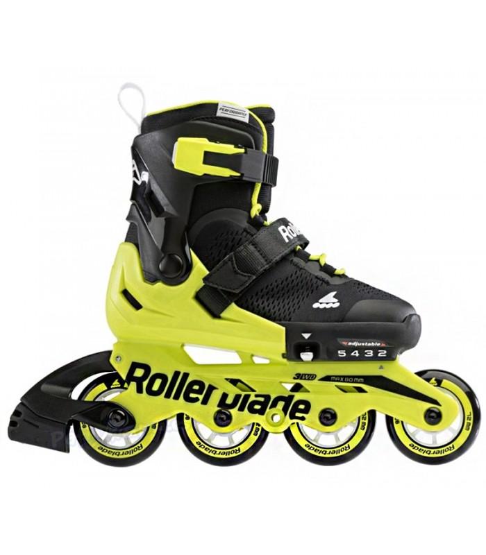 Patines Fitness Rollerblade Microblade Negro/Amarillo Neon Niños