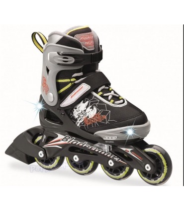 Patines Fitness Phaser Flash Luz Led Verde Niños/as