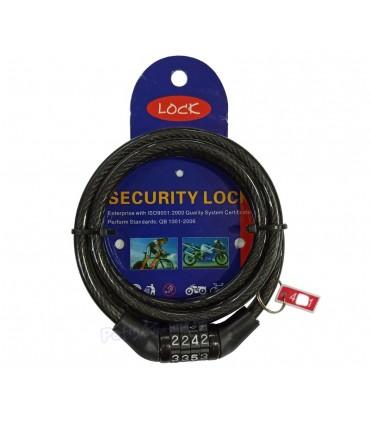 Candado Cable De Seguridad Multifunción Bloqueo Antirrobo De Patinete Eléctrico