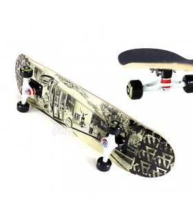 "Skateboard Bus Road 32"" x 8"""