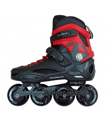 Patines Freeskate RB 80 Pro Negro/rojo Custom Adulto