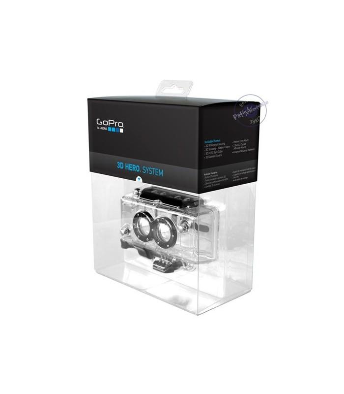 Carcasa Doble 3D Con Cable Sincronización Para GoPro